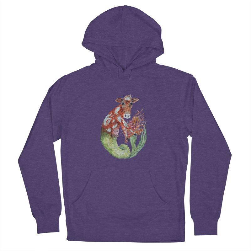 MerMoo Men's French Terry Pullover Hoody by FoxandCrow's Artist Shop