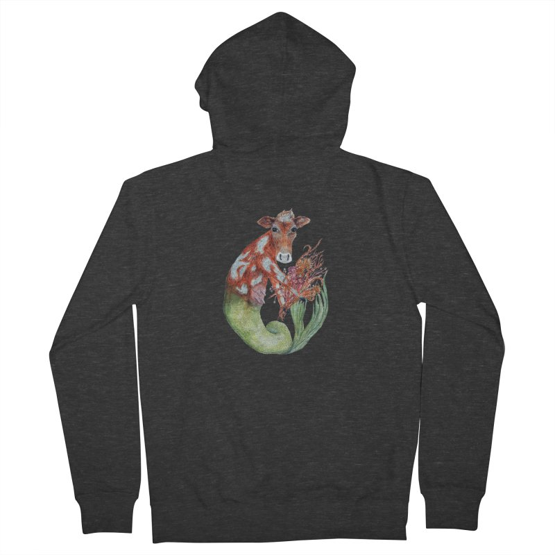 MerMoo Women's French Terry Zip-Up Hoody by FoxandCrow's Artist Shop