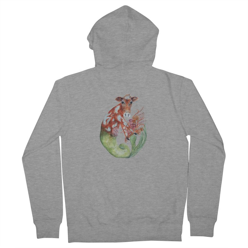 MerMoo Men's French Terry Zip-Up Hoody by FoxandCrow's Artist Shop