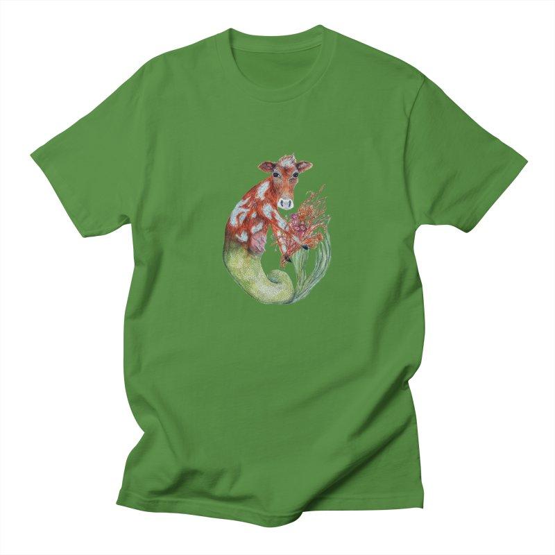 MerMoo Men's Regular T-Shirt by FoxandCrow's Artist Shop