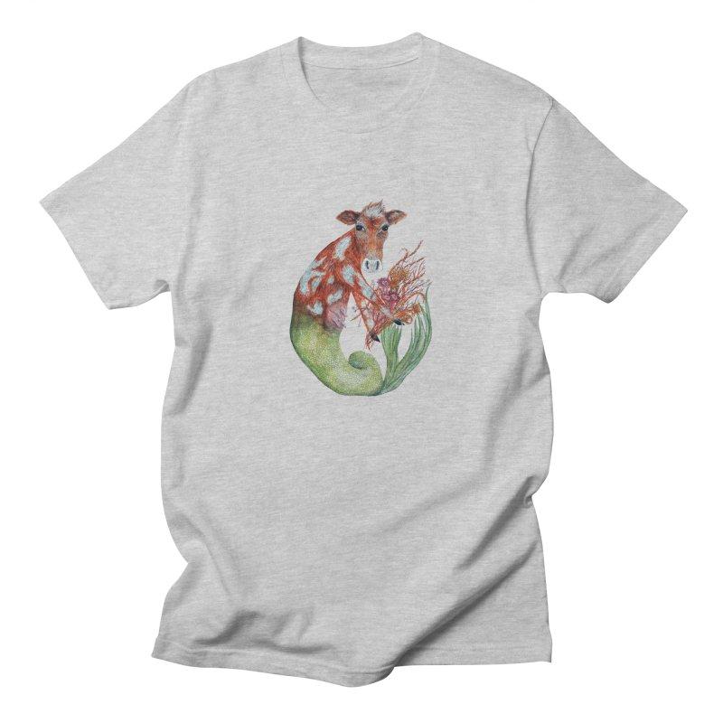 MerMoo Women's Regular Unisex T-Shirt by FoxandCrow's Artist Shop