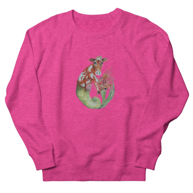 MerMoo Men's French Terry Sweatshirt by FoxandCrow's Artist Shop