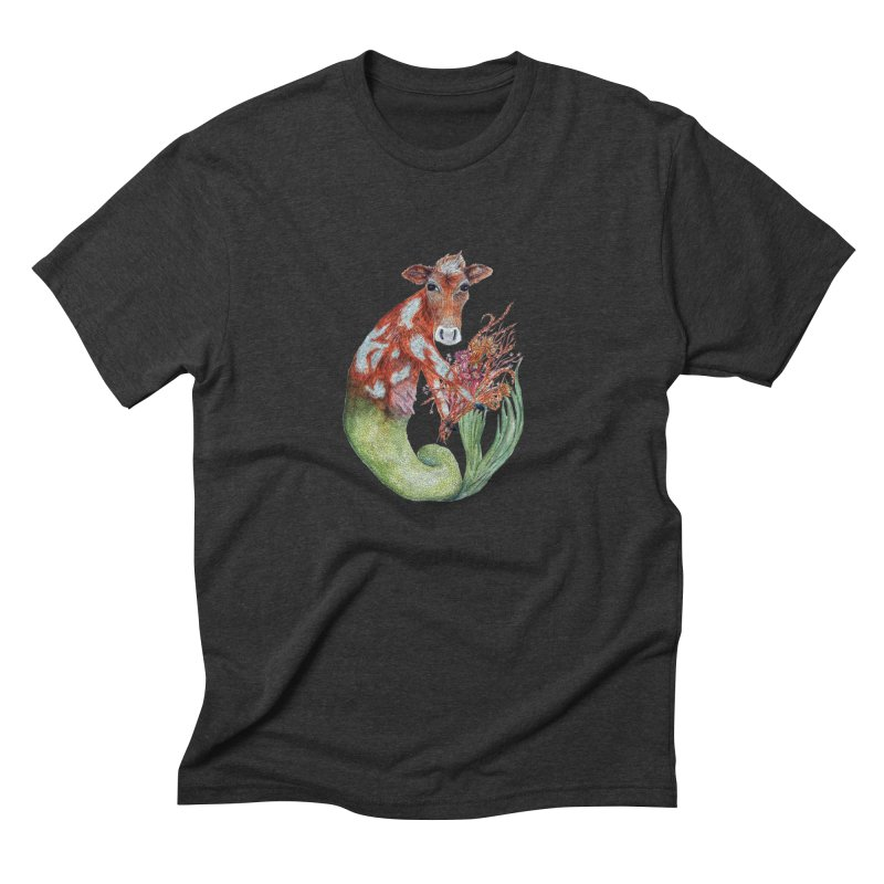 MerMoo Men's Triblend T-Shirt by FoxandCrow's Artist Shop