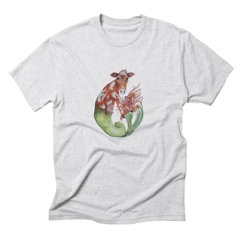 MerMoo Men's Triblend T-Shirt by FoxandCrow's Artist Shop