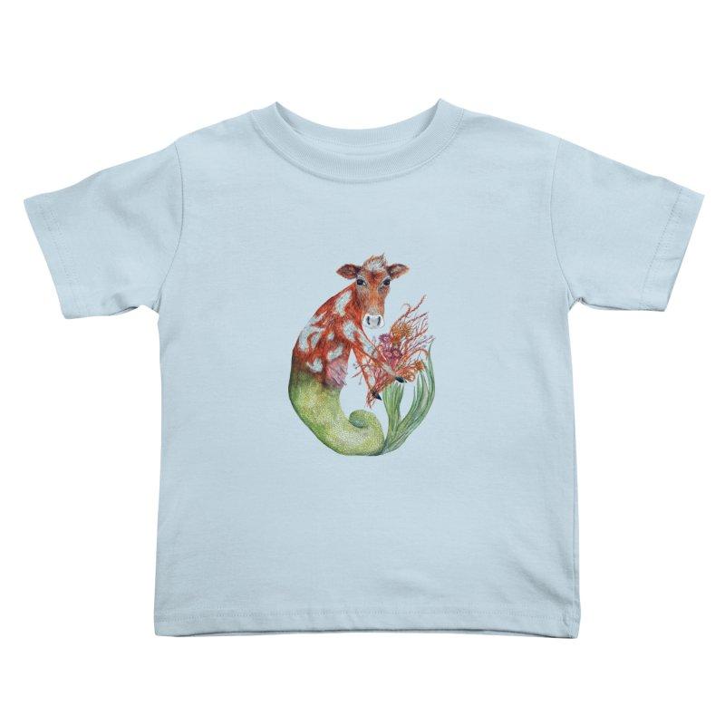 MerMoo Kids Toddler T-Shirt by FoxandCrow's Artist Shop
