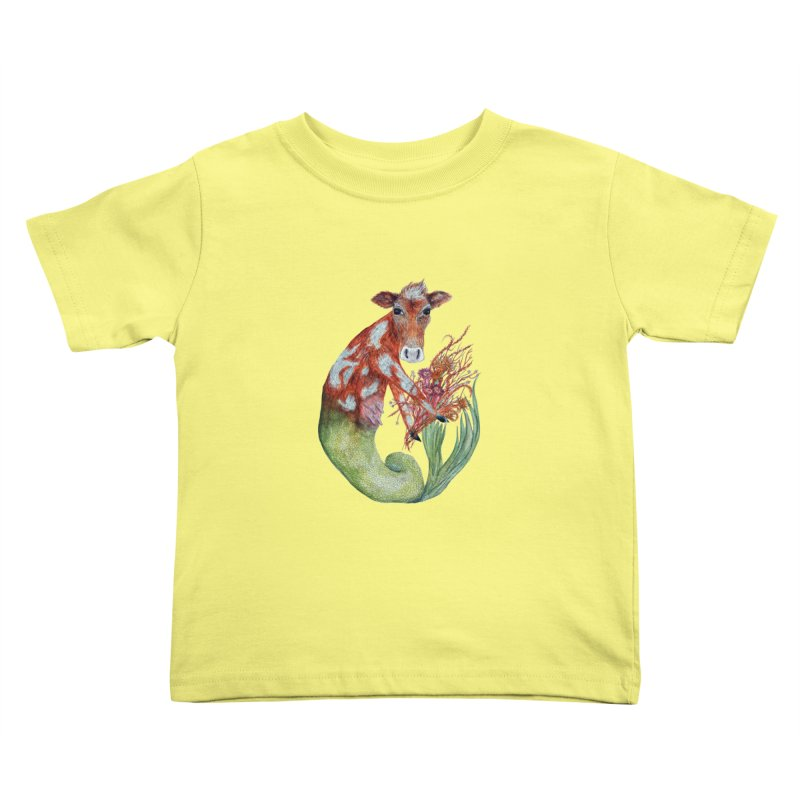 MerMoo Kids Toddler T-Shirt by FoxandCrow's Artist Shop