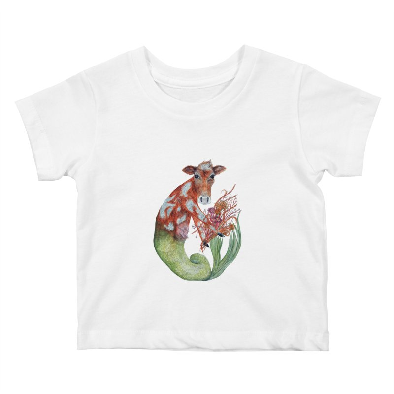 MerMoo Kids Baby T-Shirt by FoxandCrow's Artist Shop