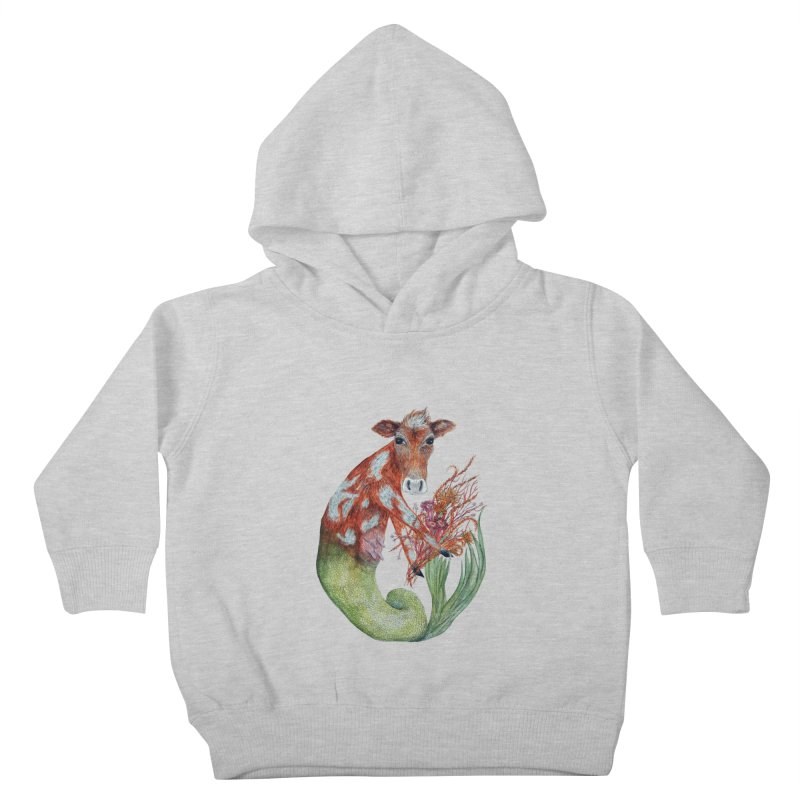MerMoo Kids Toddler Pullover Hoody by FoxandCrow's Artist Shop