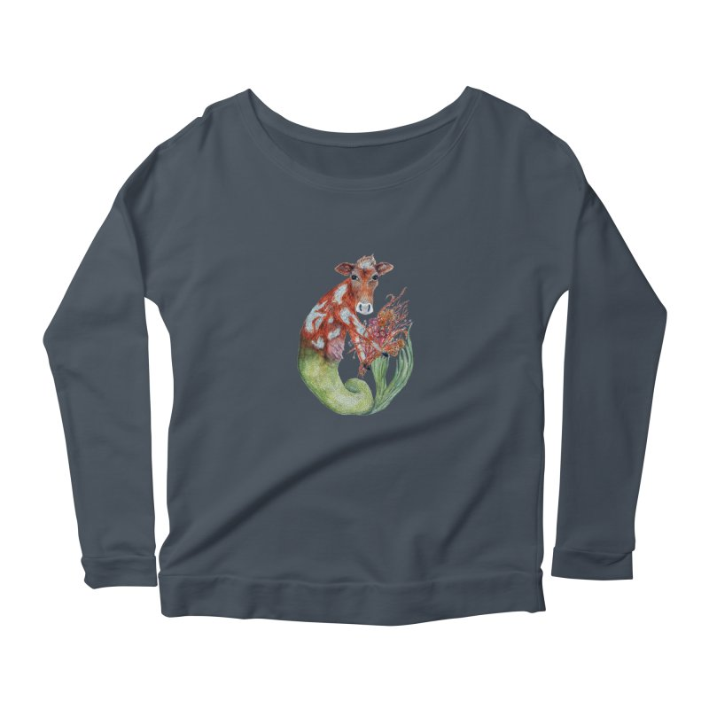 MerMoo Women's Longsleeve T-Shirt by FoxandCrow's Artist Shop