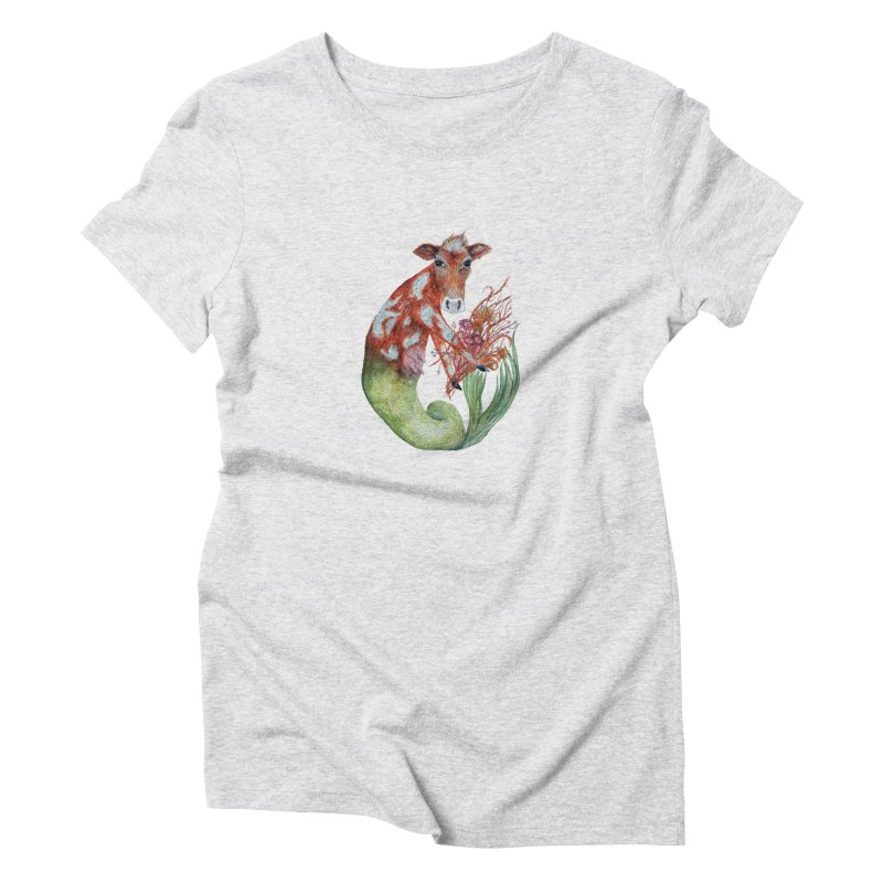 MerMoo Women's T-Shirt by FoxandCrow's Artist Shop