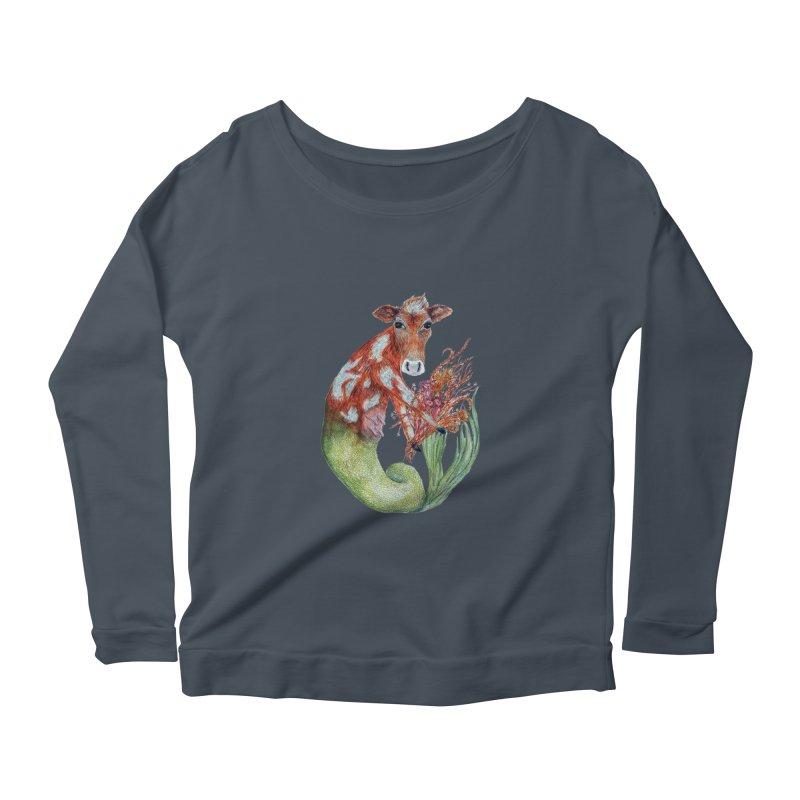 MerMoo Women's Longsleeve T-Shirt by FoxandCrow's Artist Shop