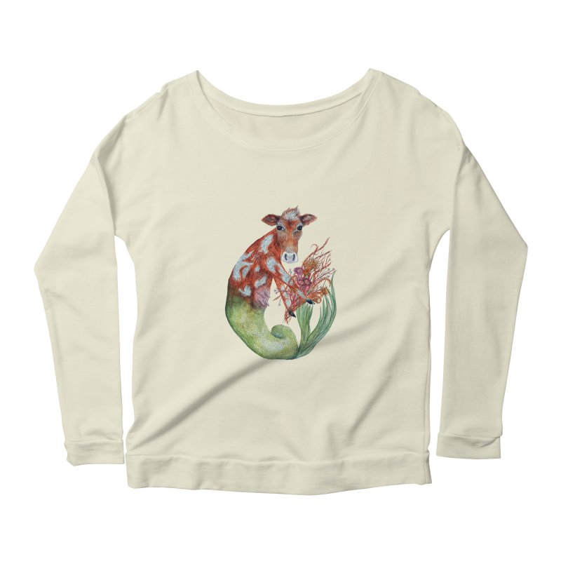MerMoo Women's Scoop Neck Longsleeve T-Shirt by FoxandCrow's Artist Shop