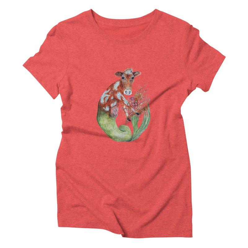 MerMoo Women's Triblend T-Shirt by FoxandCrow's Artist Shop