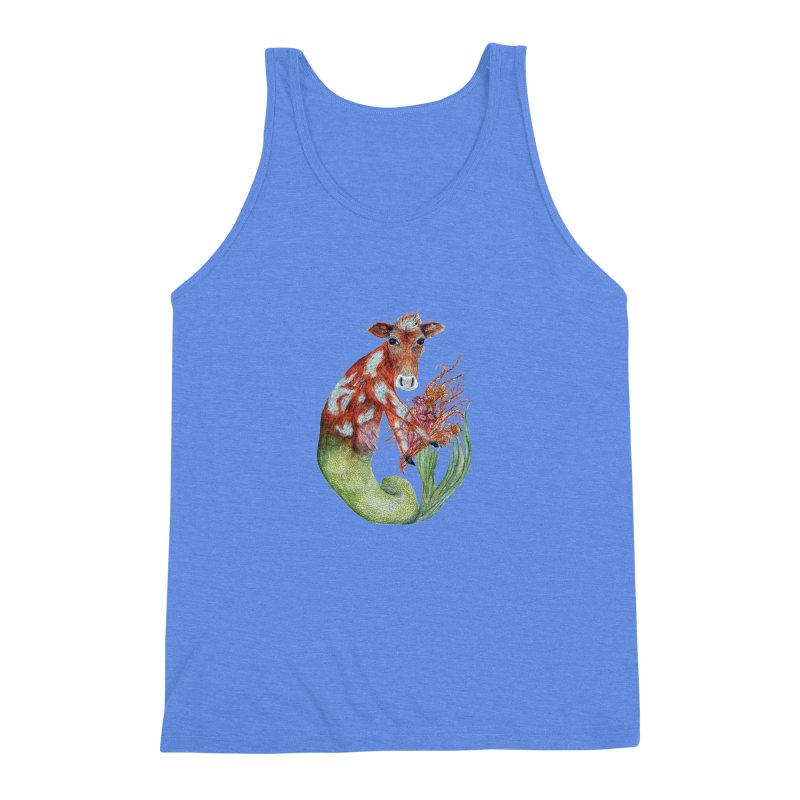 MerMoo Men's Triblend Tank by FoxandCrow's Artist Shop