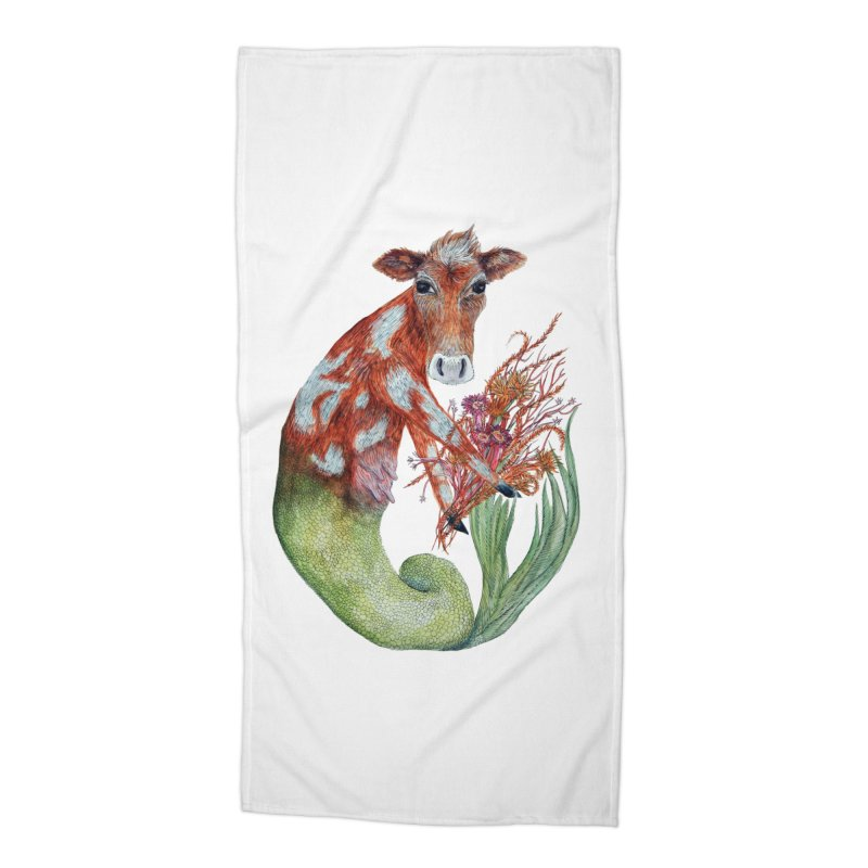 MerMoo Accessories Beach Towel by FoxandCrow's Artist Shop