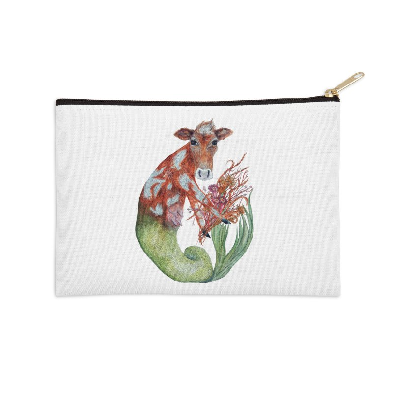 MerMoo Accessories Zip Pouch by FoxandCrow's Artist Shop