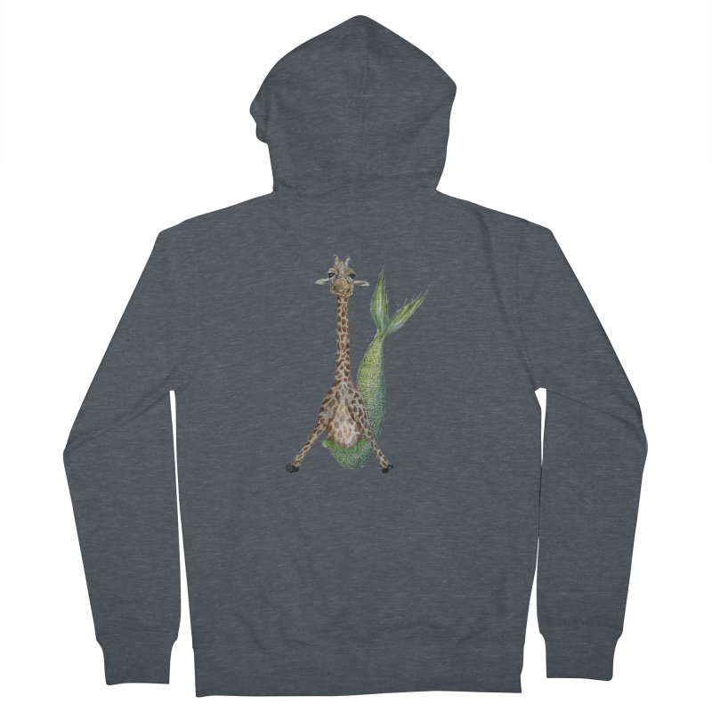 Meraffe (Mermaid Giraffe) Men's French Terry Zip-Up Hoody by FoxandCrow's Artist Shop