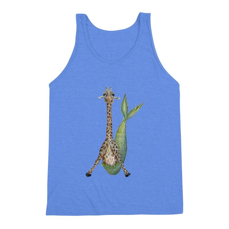 Meraffe (Mermaid Giraffe) Men's Triblend Tank by FoxandCrow's Artist Shop