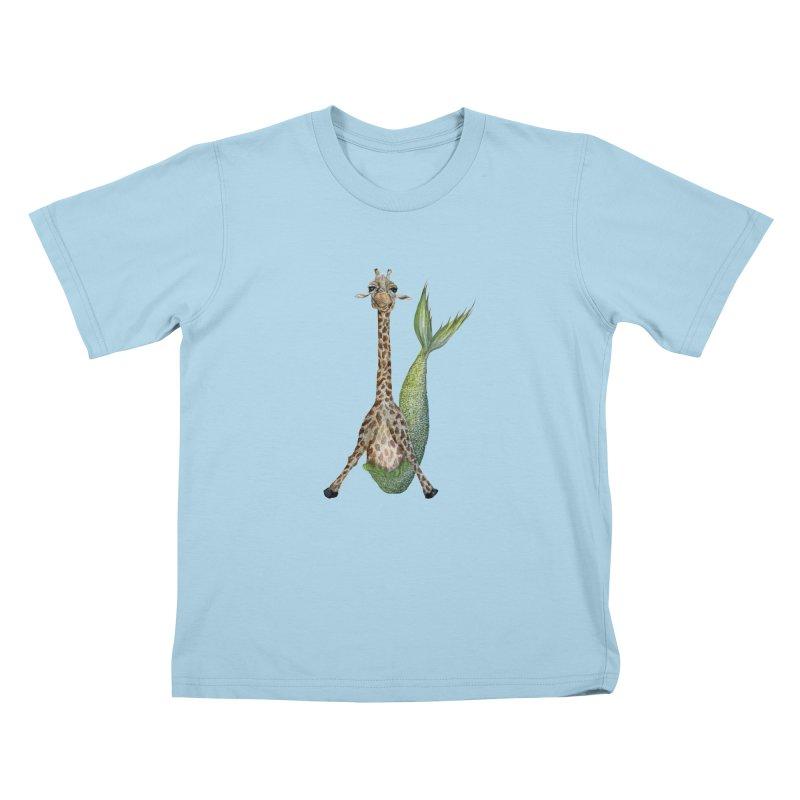 Meraffe (Mermaid Giraffe) Kids T-Shirt by FoxandCrow's Artist Shop