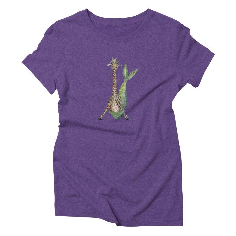 Meraffe (Mermaid Giraffe) Women's T-Shirt by FoxandCrow's Artist Shop