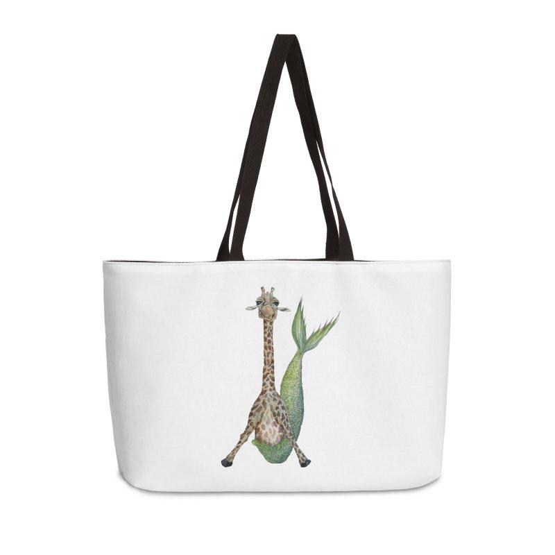 Meraffe (Mermaid Giraffe) Accessories Weekender Bag Bag by FoxandCrow's Artist Shop