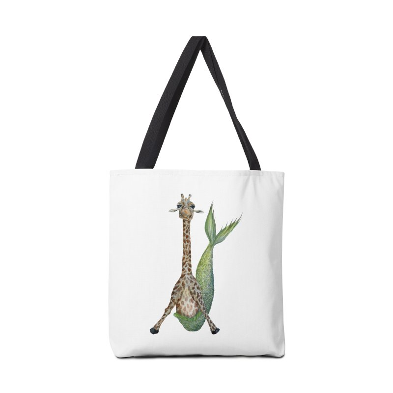 Meraffe (Mermaid Giraffe) Accessories Tote Bag Bag by FoxandCrow's Artist Shop