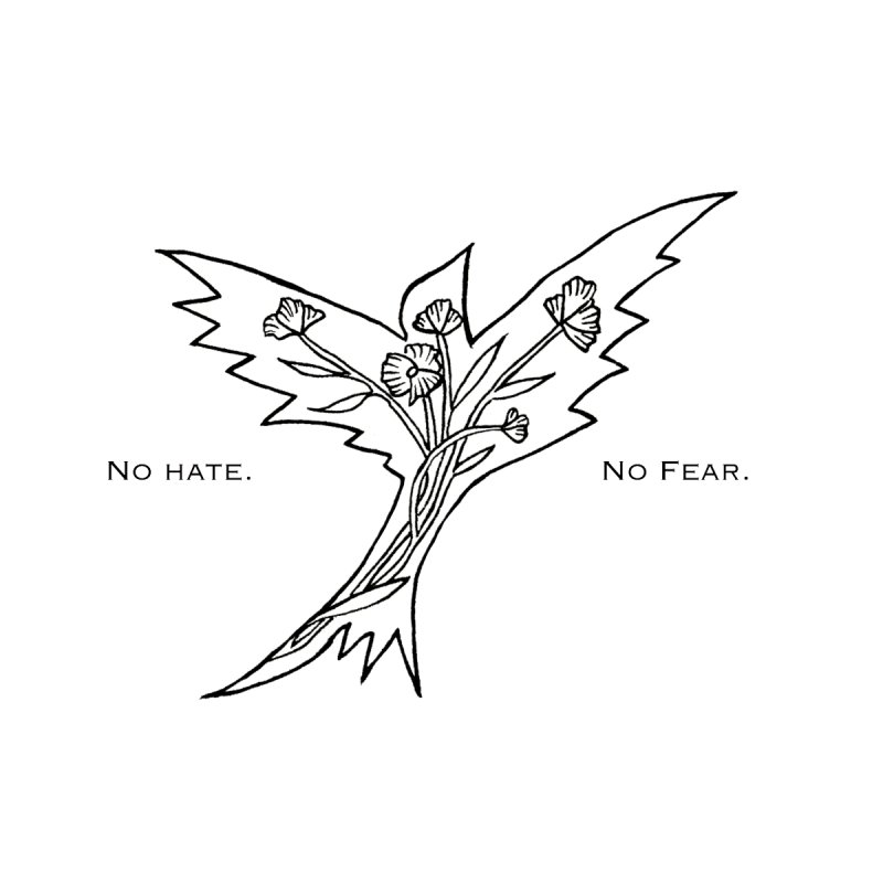 No Hate. No Fear. Everyone is Welcome Here. Women's Zip-Up Hoody by FoxandCrow's Artist Shop