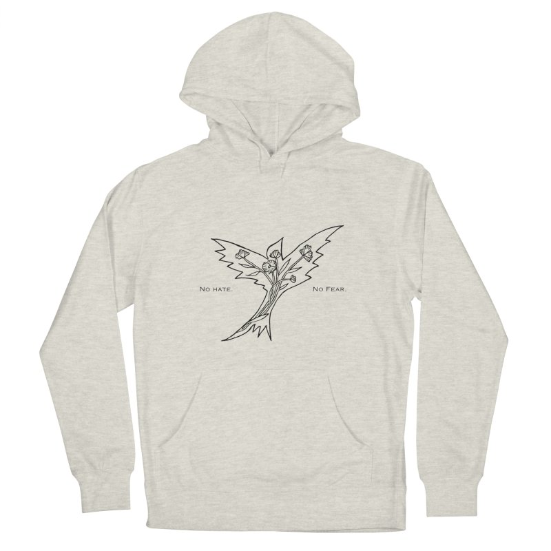 No Hate. No Fear. Everyone is Welcome Here. Men's Pullover Hoody by FoxandCrow's Artist Shop