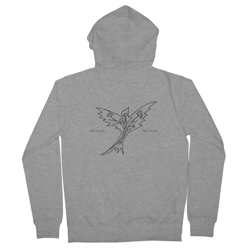 No Hate. No Fear. Everyone is Welcome Here. Men's French Terry Zip-Up Hoody by FoxandCrow's Artist Shop