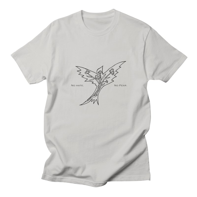 No Hate. No Fear. Everyone is Welcome Here. Men's T-Shirt by FoxandCrow's Artist Shop