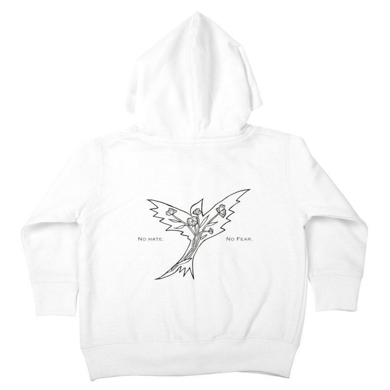No Hate. No Fear. Everyone is Welcome Here. Kids Toddler Zip-Up Hoody by FoxandCrow's Artist Shop
