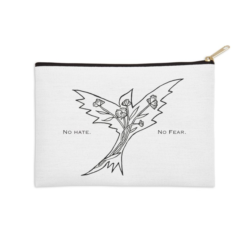 No Hate. No Fear. Everyone is Welcome Here. Accessories Zip Pouch by FoxandCrow's Artist Shop