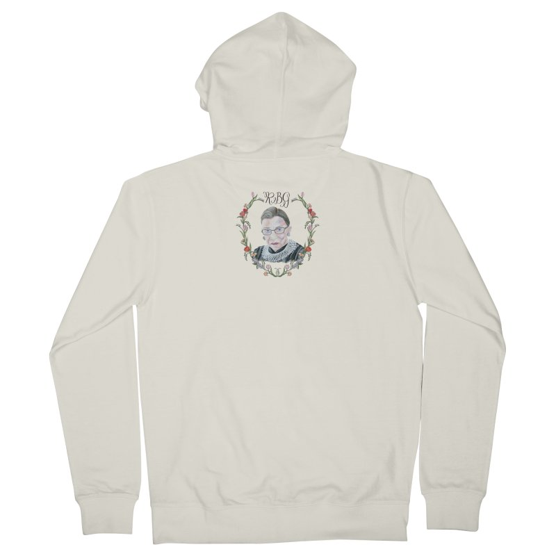 RBG Men's French Terry Zip-Up Hoody by FoxandCrow's Artist Shop