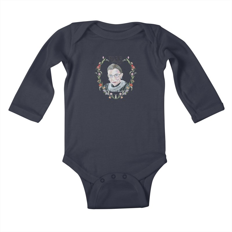 RBG Kids Baby Longsleeve Bodysuit by FoxandCrow's Artist Shop