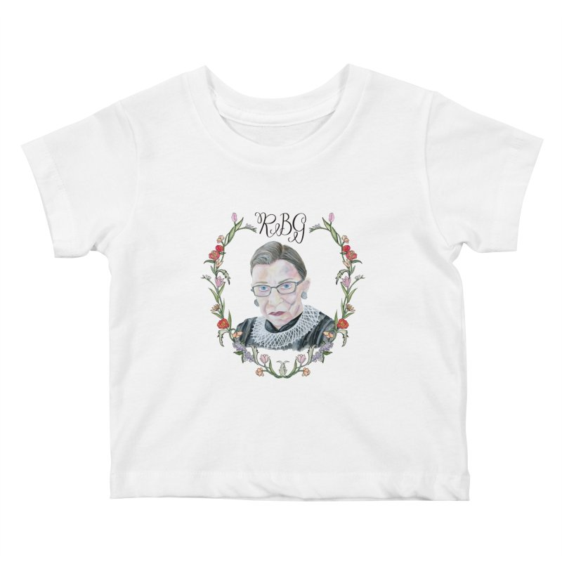 RBG Kids Baby T-Shirt by FoxandCrow's Artist Shop