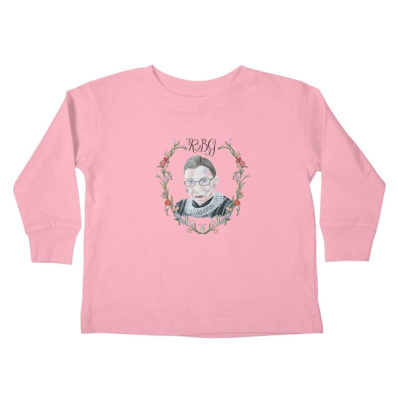RBG Kids Toddler Longsleeve T-Shirt by FoxandCrow's Artist Shop
