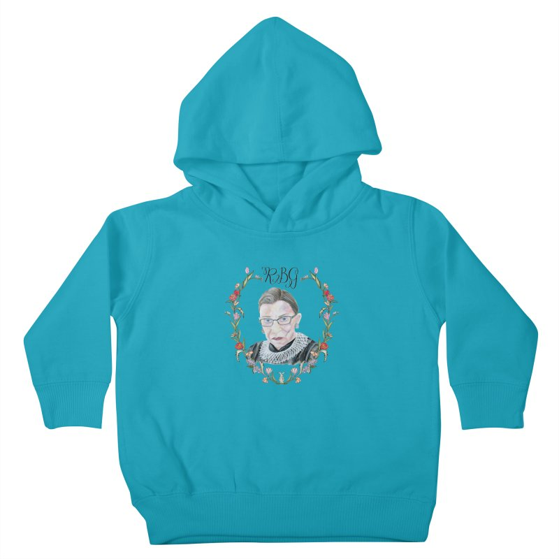 RBG Kids Toddler Pullover Hoody by FoxandCrow's Artist Shop