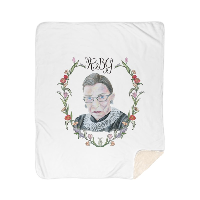 RBG Home Blanket by FoxandCrow's Artist Shop