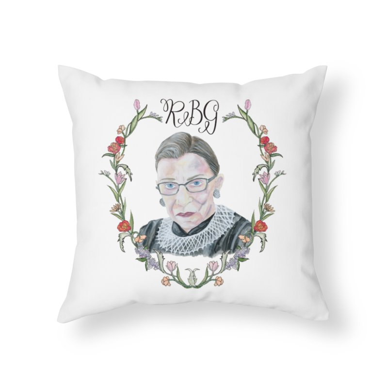 RBG Home Throw Pillow by FoxandCrow's Artist Shop
