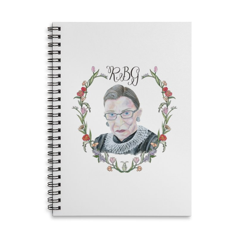 RBG Accessories Lined Spiral Notebook by FoxandCrow's Artist Shop