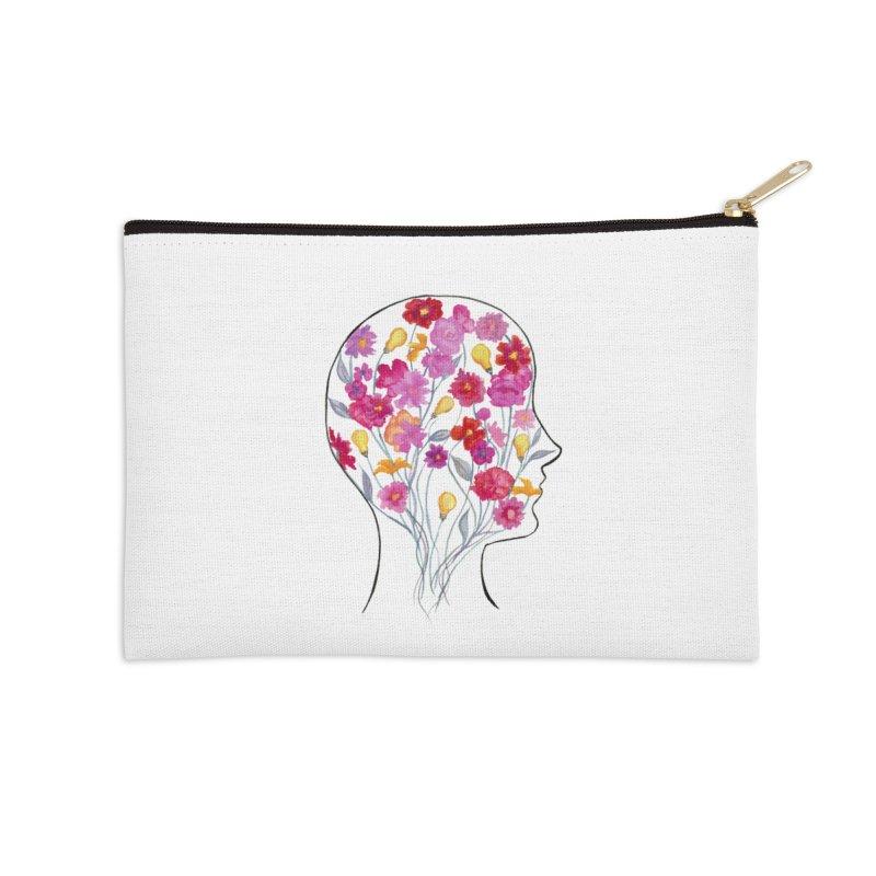 Mind Garden Accessories Zip Pouch by FoxandCrow's Artist Shop