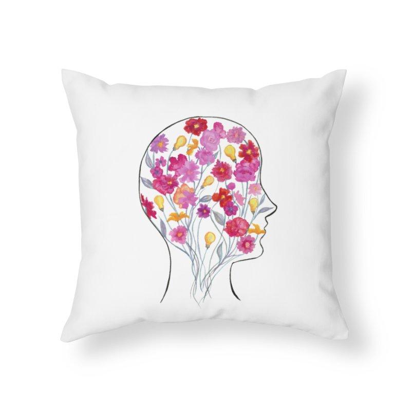 Mind Garden Home Throw Pillow by FoxandCrow's Artist Shop