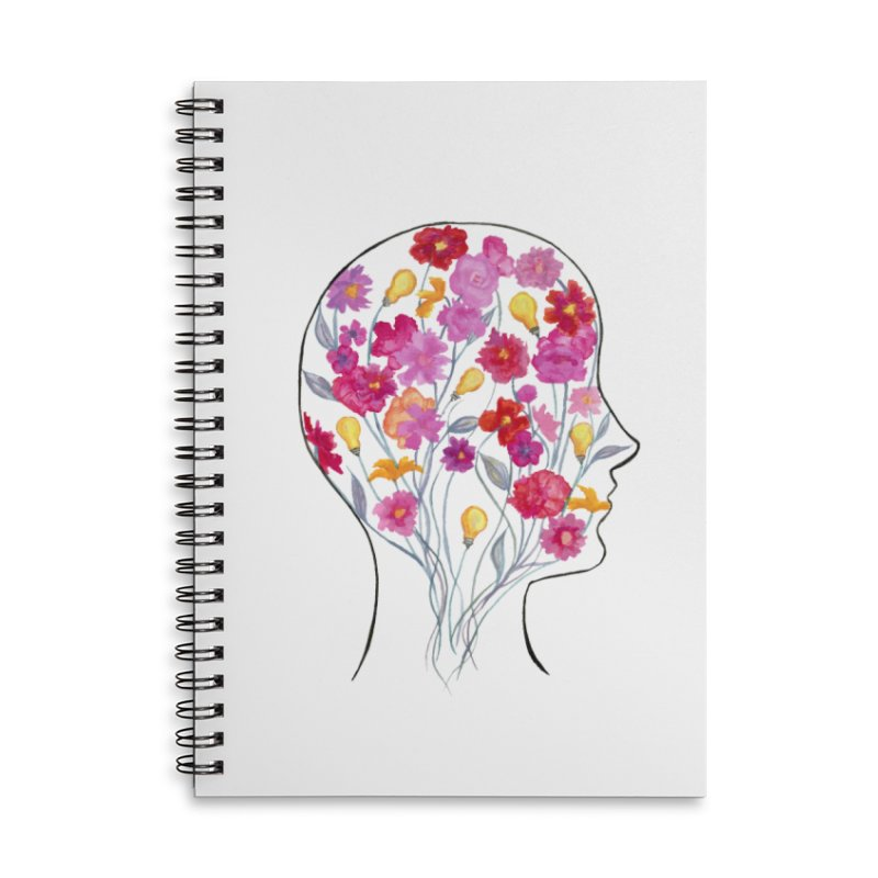 Mind Garden Accessories Lined Spiral Notebook by FoxandCrow's Artist Shop