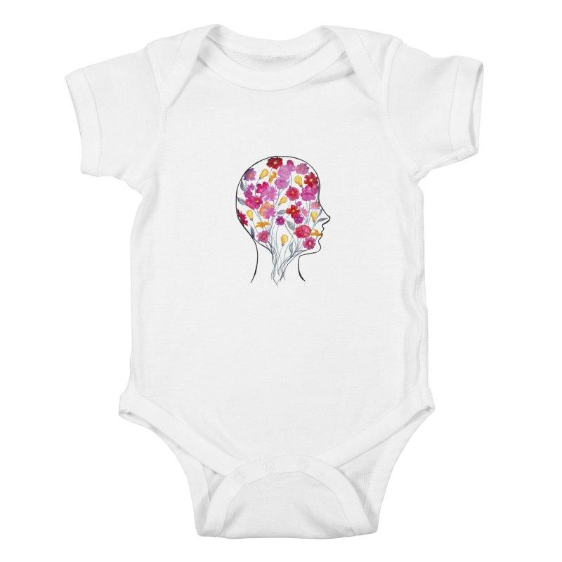 Mind Garden Kids Baby Bodysuit by FoxandCrow's Artist Shop