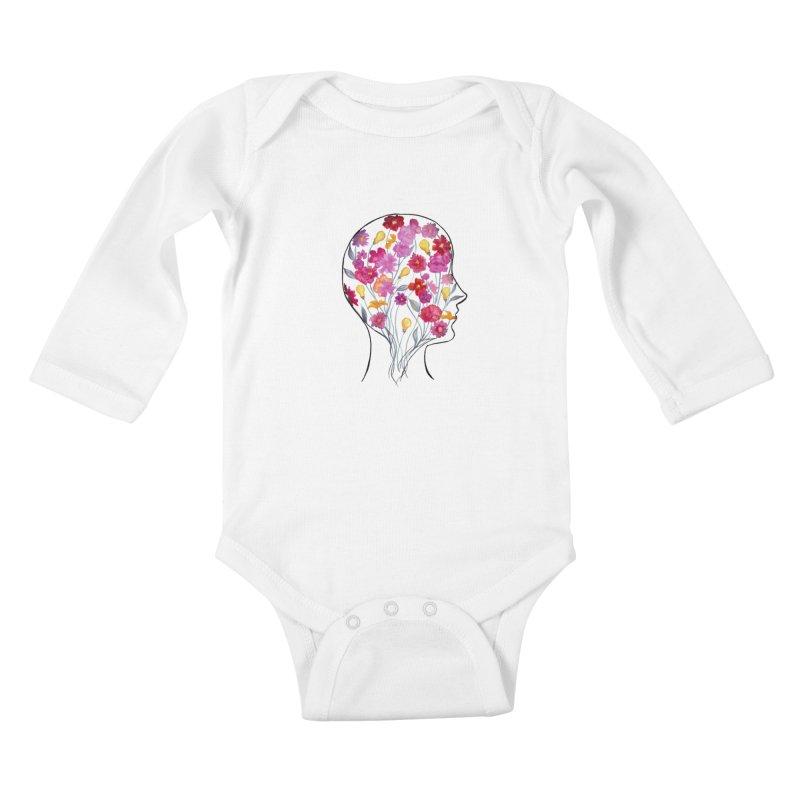 Mind Garden Kids Baby Longsleeve Bodysuit by FoxandCrow's Artist Shop