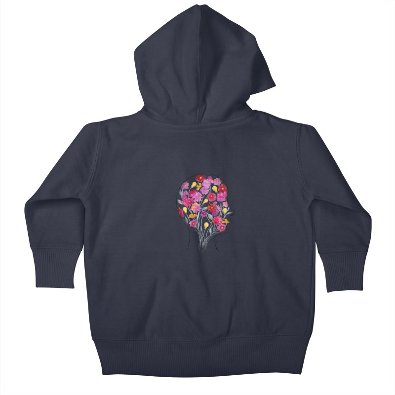 Mind Garden Kids Baby Zip-Up Hoody by FoxandCrow's Artist Shop