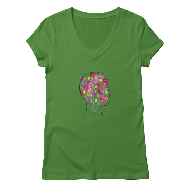 Mind Garden Women's Regular V-Neck by FoxandCrow's Artist Shop