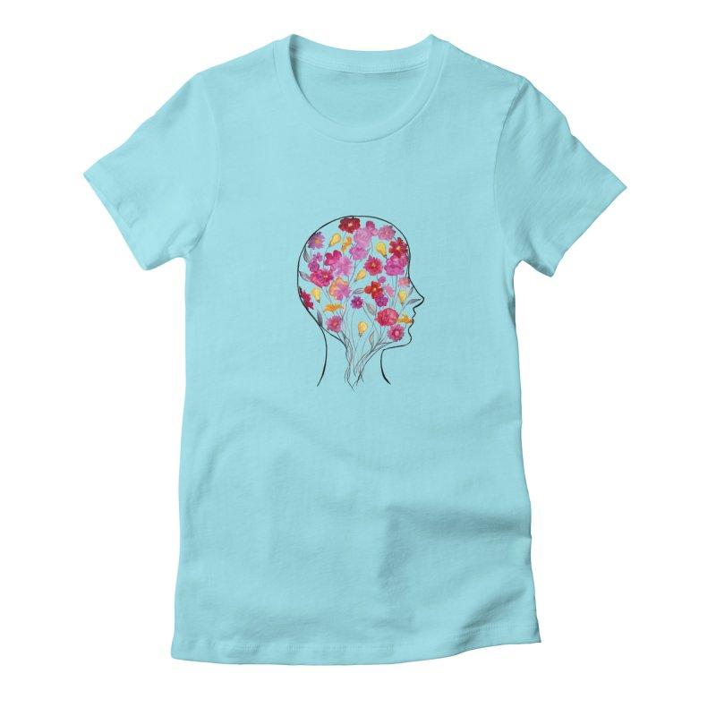 Mind Garden Women's Fitted T-Shirt by FoxandCrow's Artist Shop