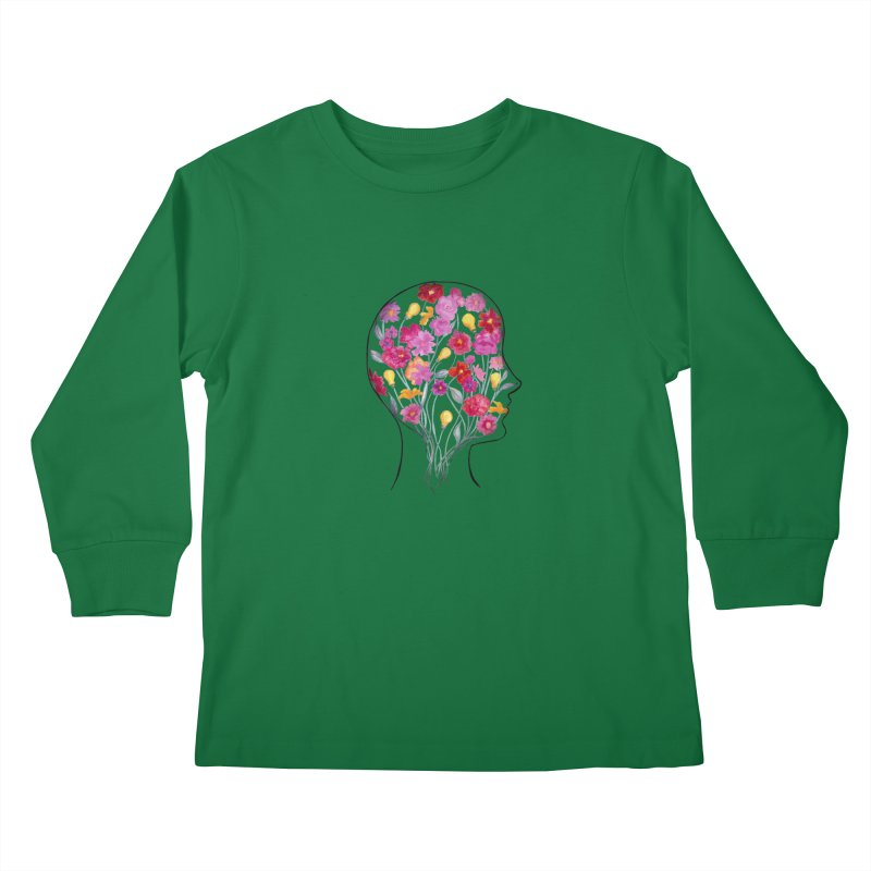Mind Garden Kids Longsleeve T-Shirt by FoxandCrow's Artist Shop