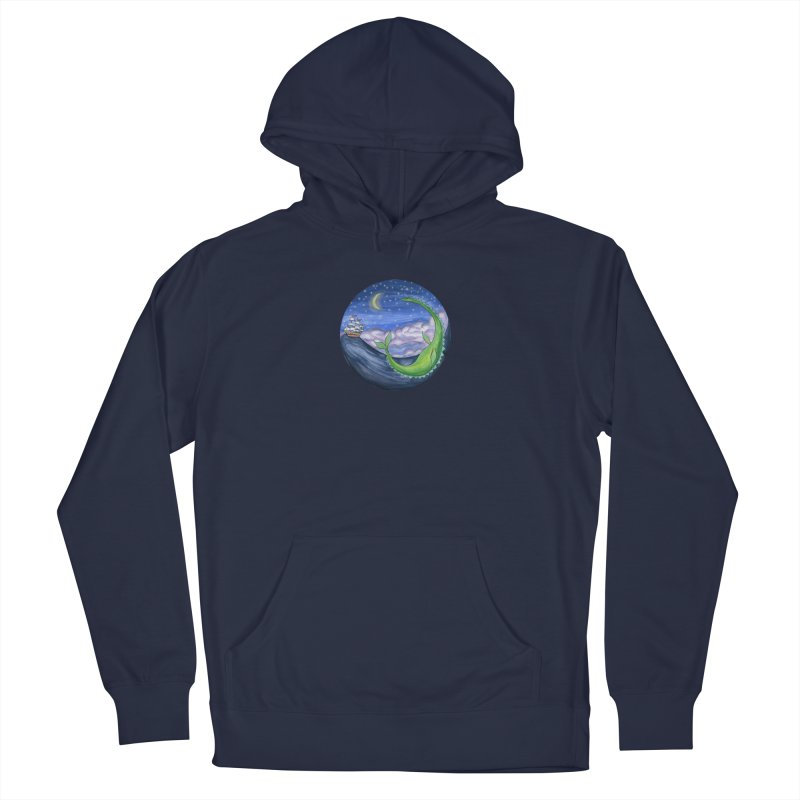 Sea Monster Night Men's Pullover Hoody by FoxandCrow's Artist Shop